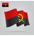 Flat and waving Angolan Flag vector image vector image