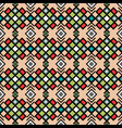 geometric pattern in vintage colors vector image vector image