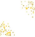 golden confetti on white background vector image