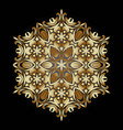 golden ornament element in the form of a mandala vector image vector image