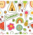 happy embroidery colorful summer patches pattern vector image vector image