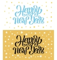 Happy New Year hand-lettering text Handmade vector image