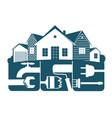 housing repair symbol for business vector image vector image