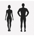 human silhouettes full face vector image