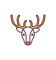 hunting trophy rgb color icon vector image