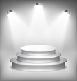 Illuminated Glossy Stage Podium to Place Product vector image vector image