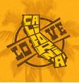 love california creative t-shirt print design vector image vector image