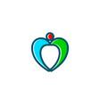 love people logo vector image