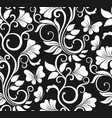 luxury seamless graphic background with flowers vector image vector image