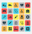 medicine icons set collection of handicapped vector image vector image