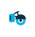 milling machine icon colored symbol premium vector image