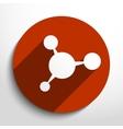 molecule web icon vector image vector image