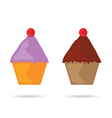 muffin color vector image