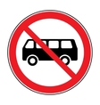 no bus sign vector image vector image