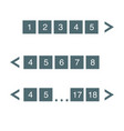 Pagination bar set with arrows electronic pages