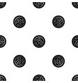 peppercorns on a plate pattern seamless black vector image vector image
