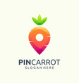 Pin carrot logo design