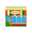 pizzeria front view flat icon vector image vector image