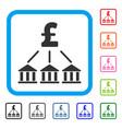 pound bank association framed icon vector image vector image