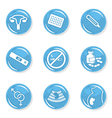 Pregnancy woman medical icons vector image vector image