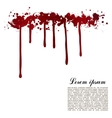 red ink stain blots and splashes isolated vector image vector image