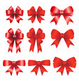 red ribbons christmas vector image