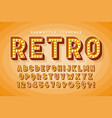 retro cinema font design cabaret broadway vector image