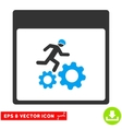 Running Worker Calendar Page Eps Icon vector image vector image