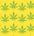 seamless pattern with drawn cannabis leaves vector image vector image