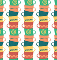 Seamless Pattern with Piles of Stacked Colorful vector image vector image