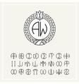 Set for creating letters monogram wreath vector image vector image