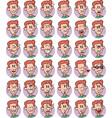 set of redhead young boy emojis vector image