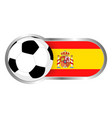 spain soccer icon vector image