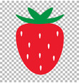 strawberry transparent strawberry fresh juice vector image