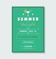 summer holidays beach party flyer typography night vector image