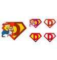 super hero logo letters superhero alphabet vector image vector image