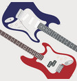 two electric guitars vector image vector image