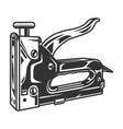 vintage template construction stapler vector image