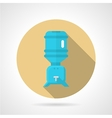 Water cooler flat round icon vector image vector image