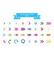 arrows set arrow icon arrow colorful colored icon vector image vector image