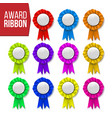 award ribbon set certificate banner vector image vector image
