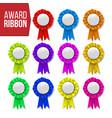 award ribbon set certificate banner vector image