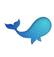 blue whale on the white background vector image
