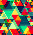 bright color triangle seamless texture vector image vector image