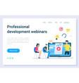 business education development webinars vector image vector image