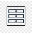 cabinet concept linear icon isolated on vector image