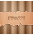 Cardboard texture background vector image vector image