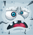 cartoon funny cute stone monster character vector image vector image