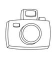 cartoon photographic camera icon vector image