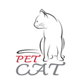 Cat Pet vector image vector image